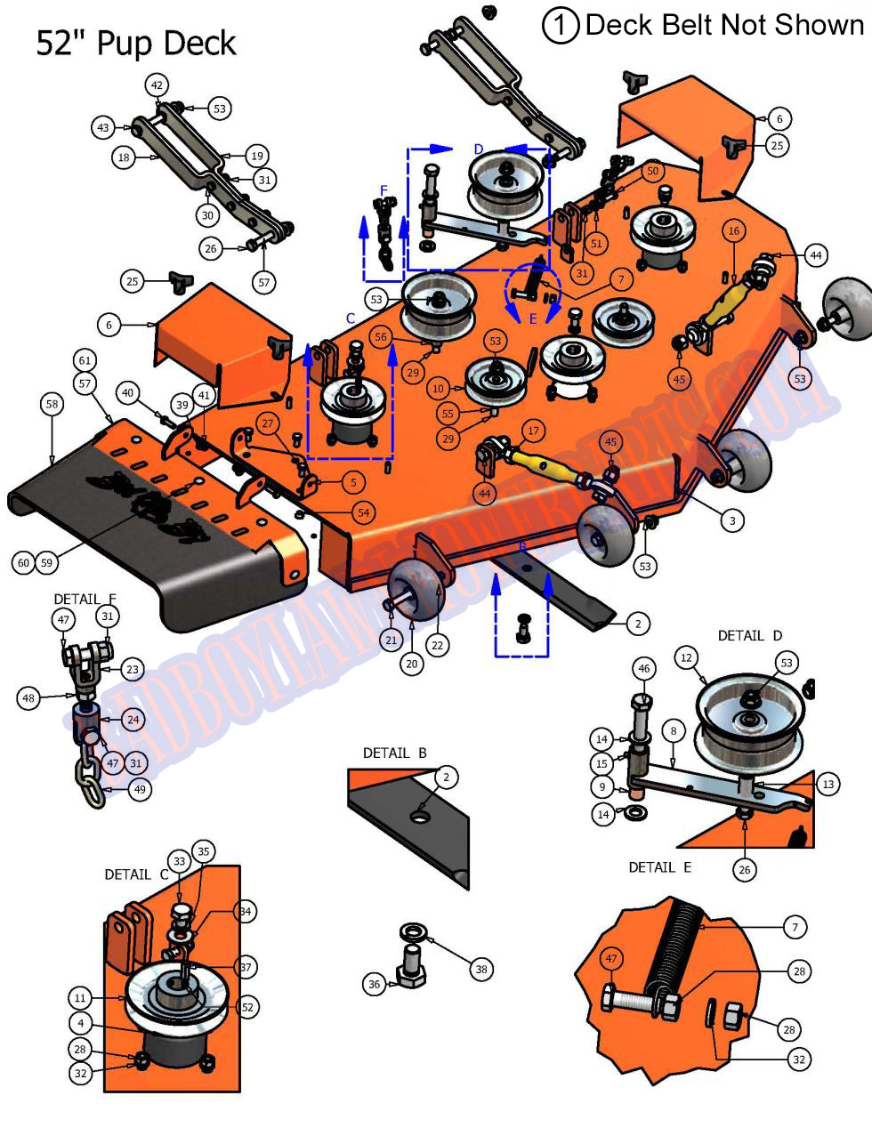 07pup52dk 2007 Pup 52 Deck Assembly Manual Guide