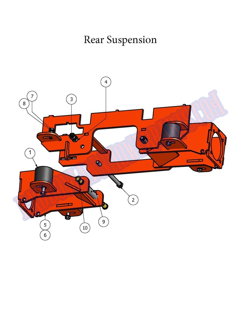 Rear Suspension Assy : Bad boy mower part