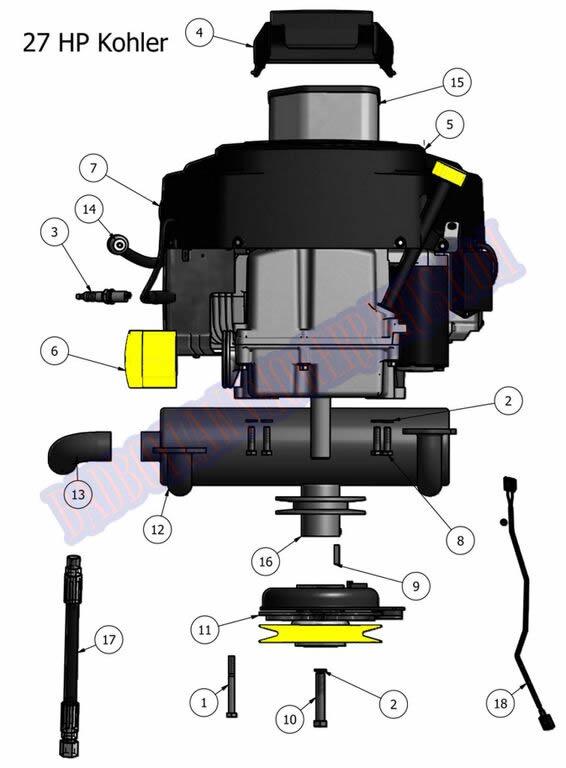 kohler courage 19 fuel filter  kohler  free engine image