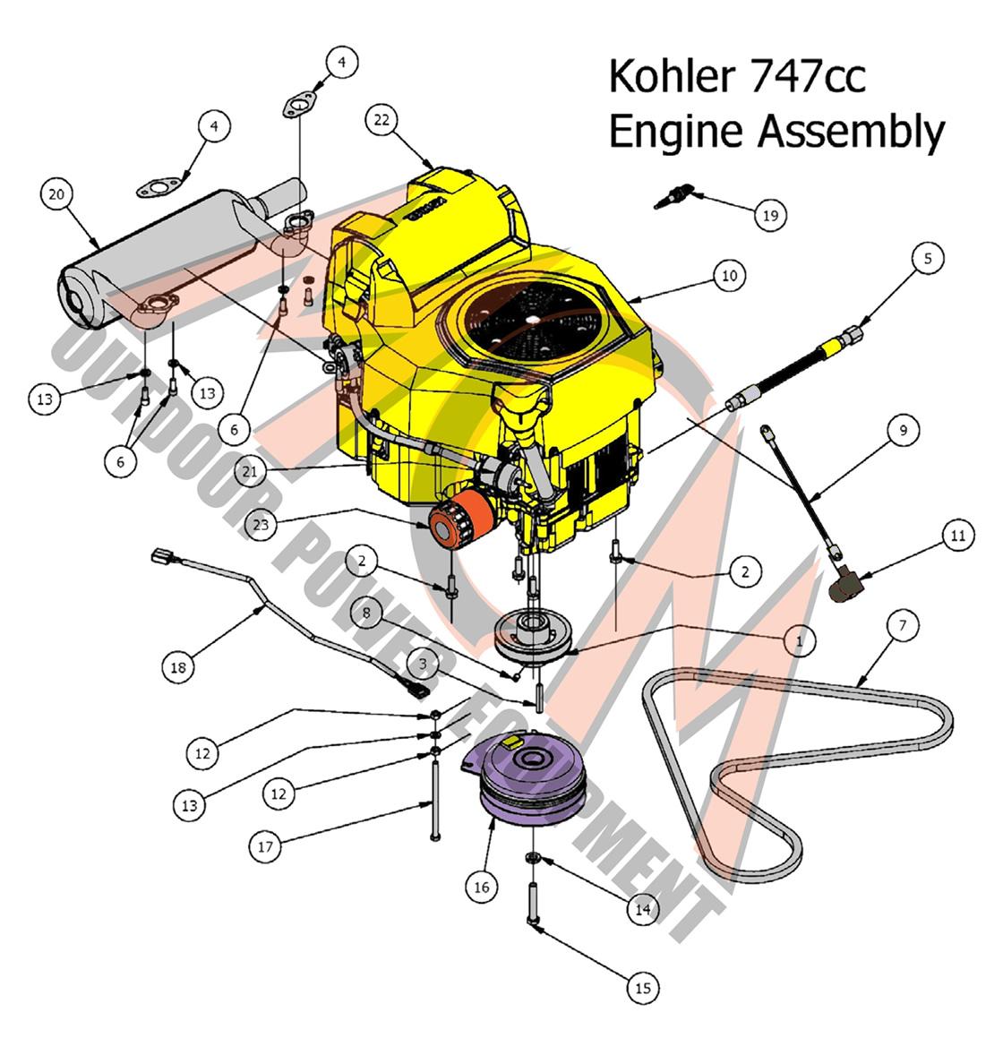 Bad Boy Mower Part  2017 Maverick Kohler 747cc Engine