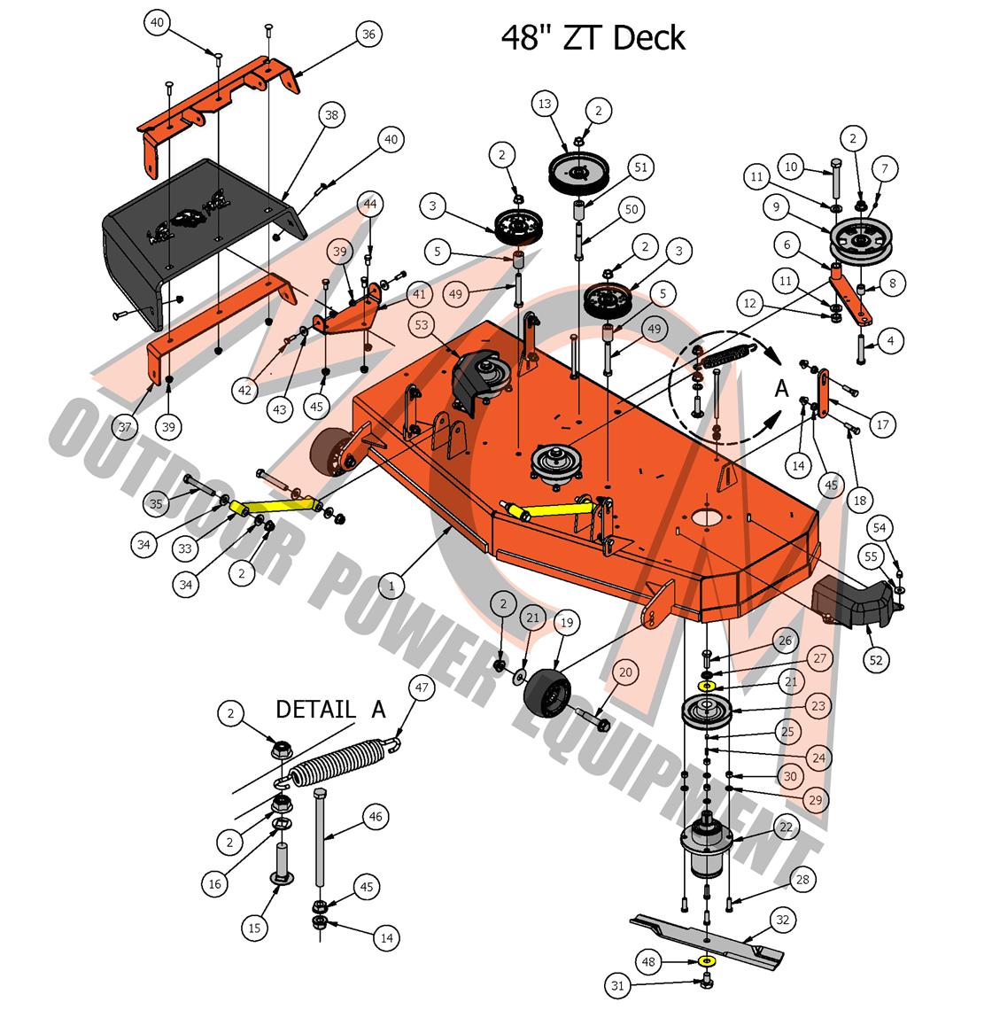 2017 Zt Elite 48 Quot Deck Assembly