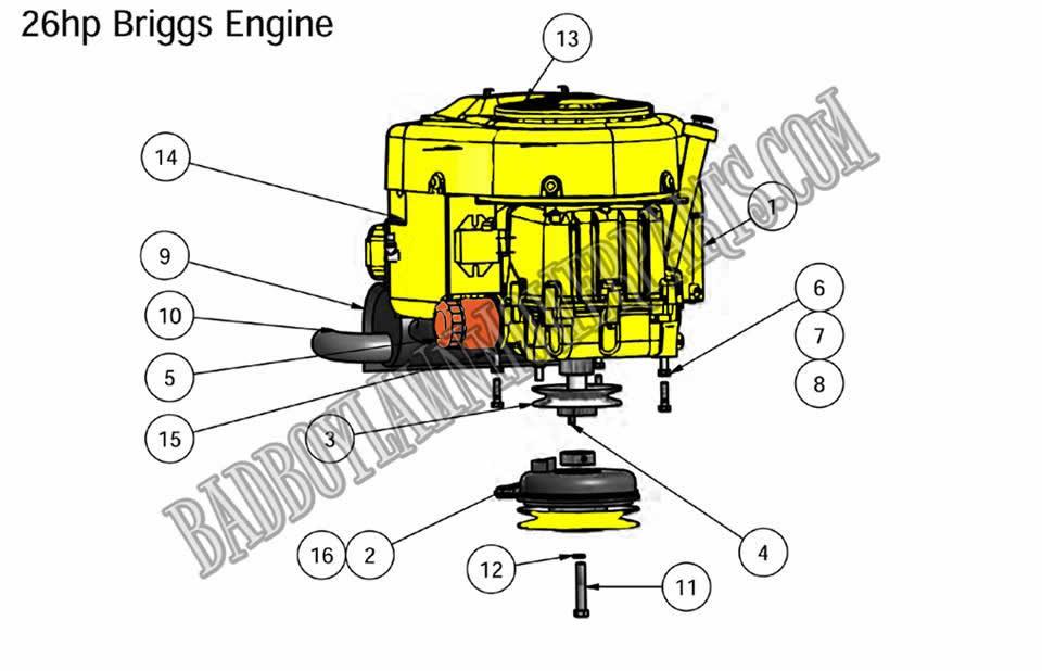 Bad Boy Mower Part  2010 Zt 26hp Briggs Engine