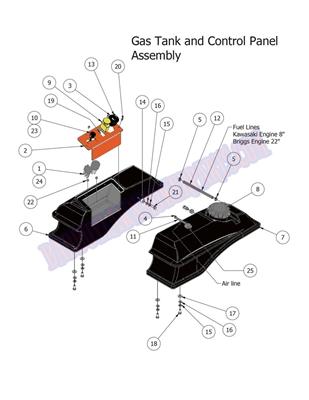 bad boy mower part 2014 mz fuel tank and control panel. Black Bedroom Furniture Sets. Home Design Ideas