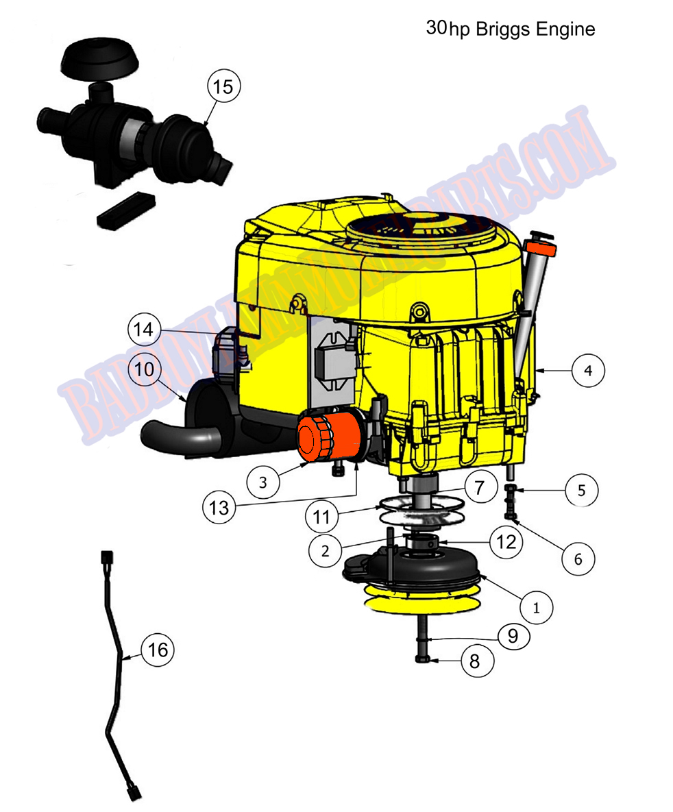 Bad Boy Mower Part, 2011 OUTLAW ENGINE (30Hp Briggs) EMBLY  L Engine Diagram Free Download on