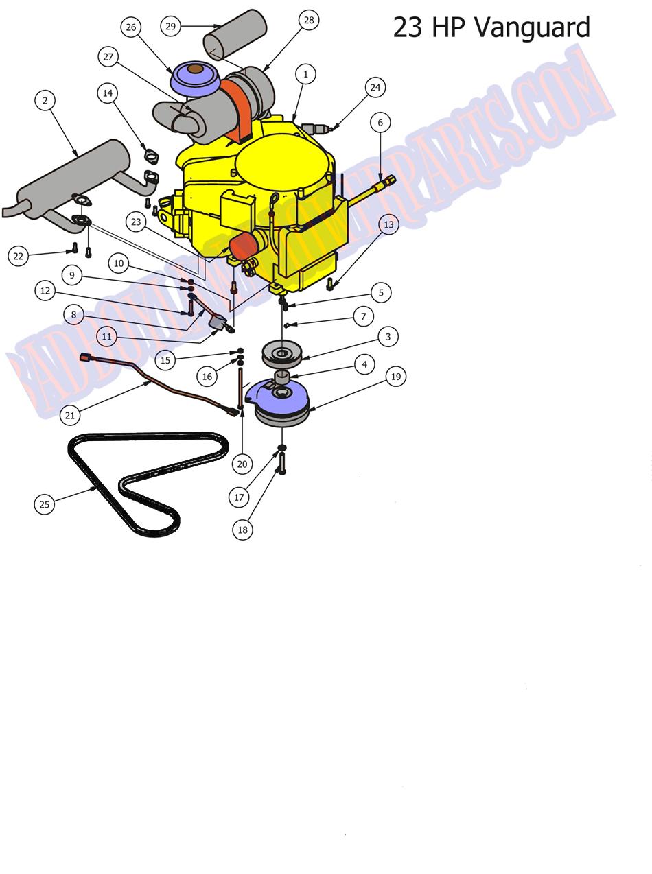 X-LITE muffler for 20-23hp Vanguard