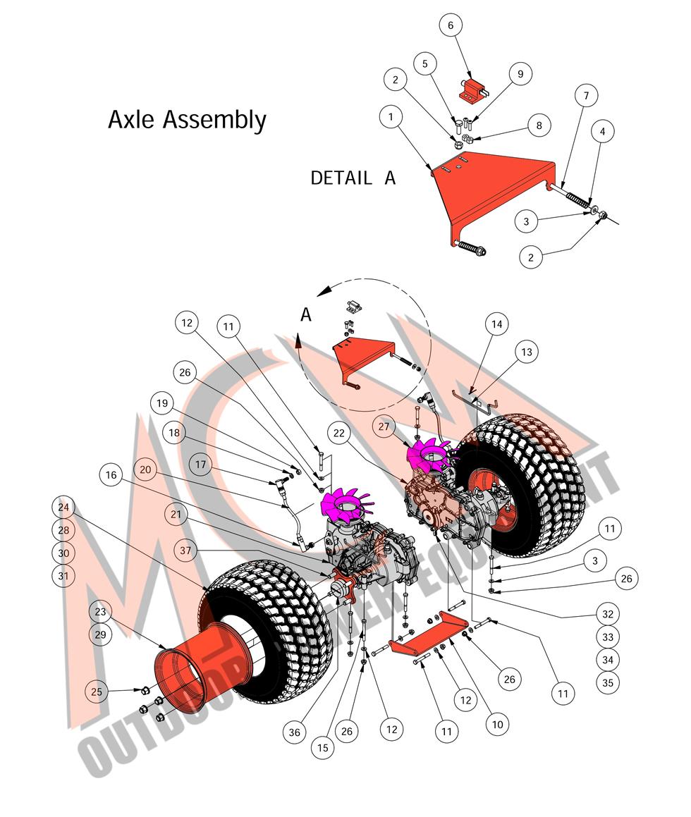 Bad Boy Mower Part 2016 Mz Magnum Axle Assembly Engine Diagram Kawasaki Fr 651v