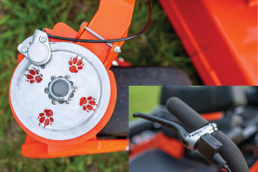 Bad Boy Mowers Oem Front Caster Brakes, Front Disk Brakes, Bad Boy Front Brakes
