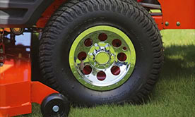 Bad Boy Oem Wheels Covers, No-flat tire, run flat tires, factory replacement, nice rims for bad boy mower