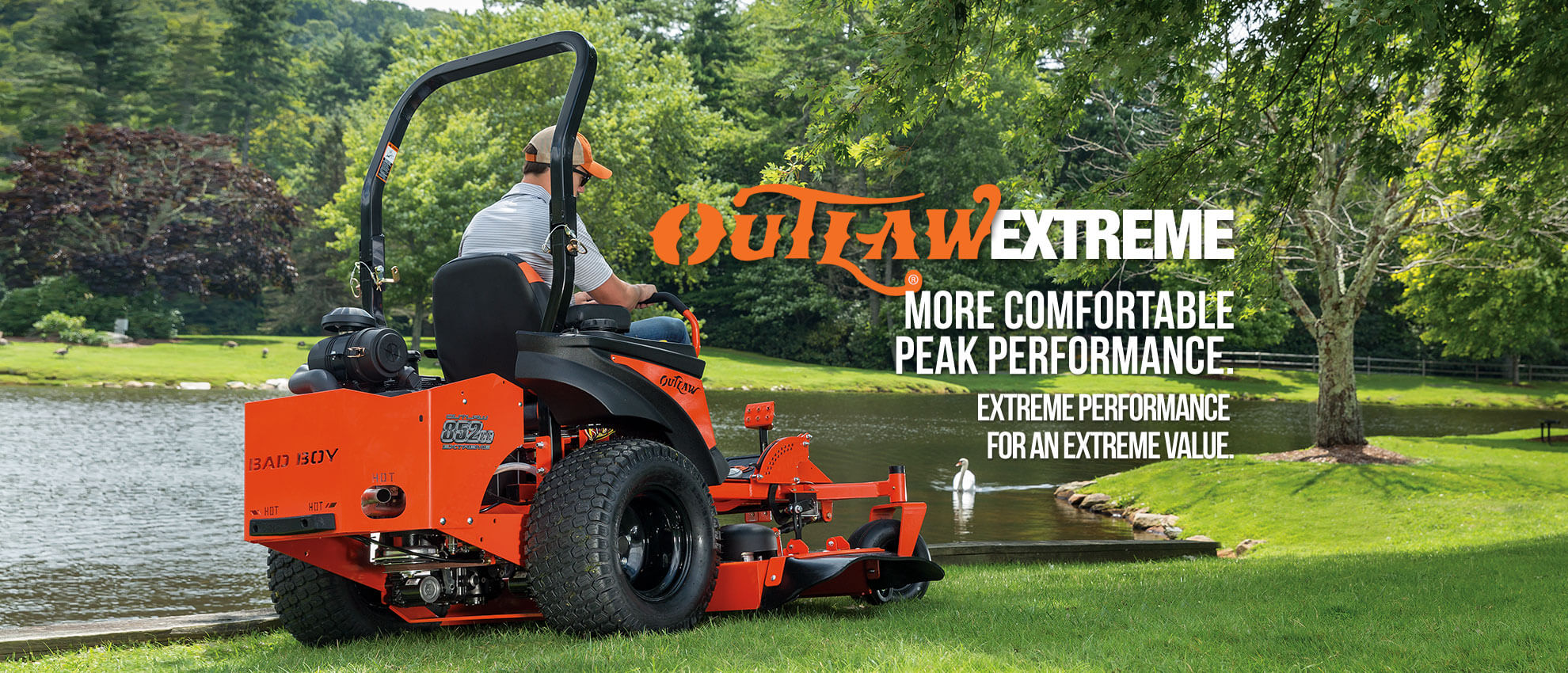 Stand Behind Lawn Mower >> Bad Boy Mower OUTLAW EXTREME SERIES